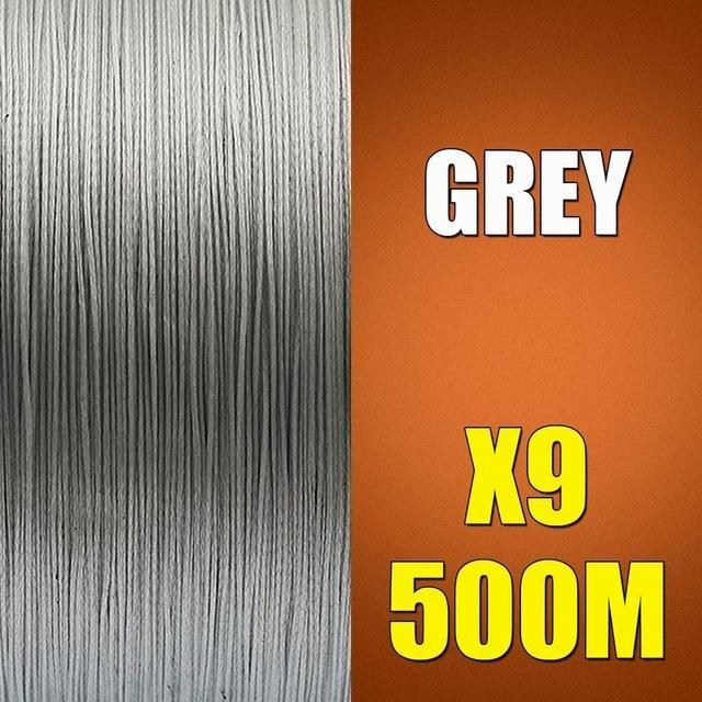 Ascon Fish 9 Strands Braided Fishing Line 500M Multifilament Fishing Line 9-AsconFish Pro Fishing Store-Grey-0.14MM-15LB-No. 0.8-Bargain Bait Box