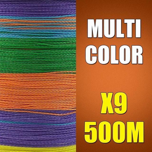 Ascon Fish 9 Strands Braided Fishing Line 500M Multifilament Fishing Line 9-AsconFish Pro Fishing Store-Multicolor-0.14MM-15LB-No. 0.8-Bargain Bait Box