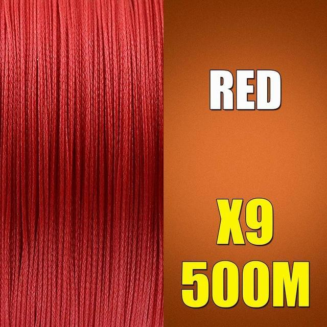 Ascon Fish 9 Strands Braided Fishing Line 500M Multifilament Fishing Line 9-AsconFish Pro Fishing Store-Red-0.14MM-15LB-No. 0.8-Bargain Bait Box