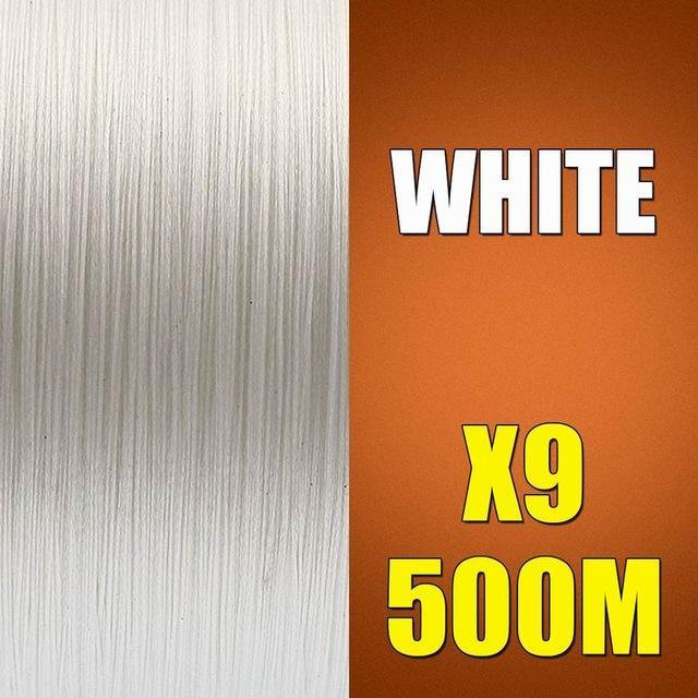 Ascon Fish 9 Strands Braided Fishing Line 500M Multifilament Fishing Line 9-AsconFish Pro Fishing Store-White-0.14MM-15LB-No. 0.8-Bargain Bait Box