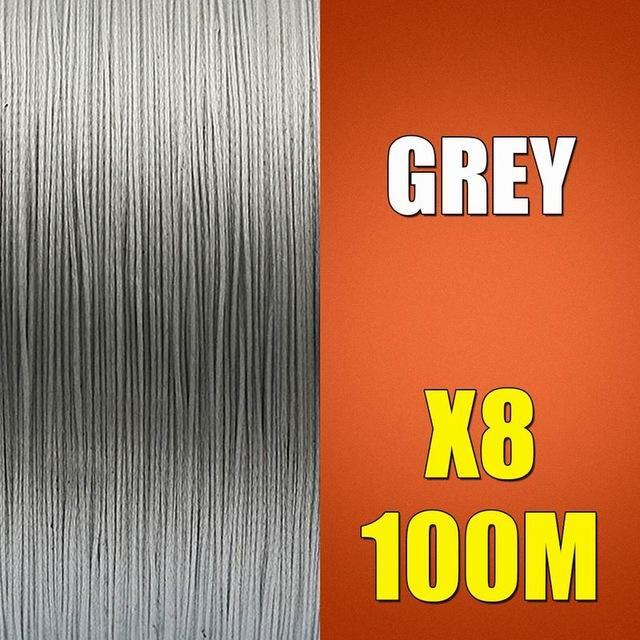 Ascon Fish Braid 8 Strands Multifilament Fishing Line 8 Wire 100M Braided Line-AsconFish Pro Fishing Store-Grey-0.10MM-6LB-No. 0.4-Bargain Bait Box