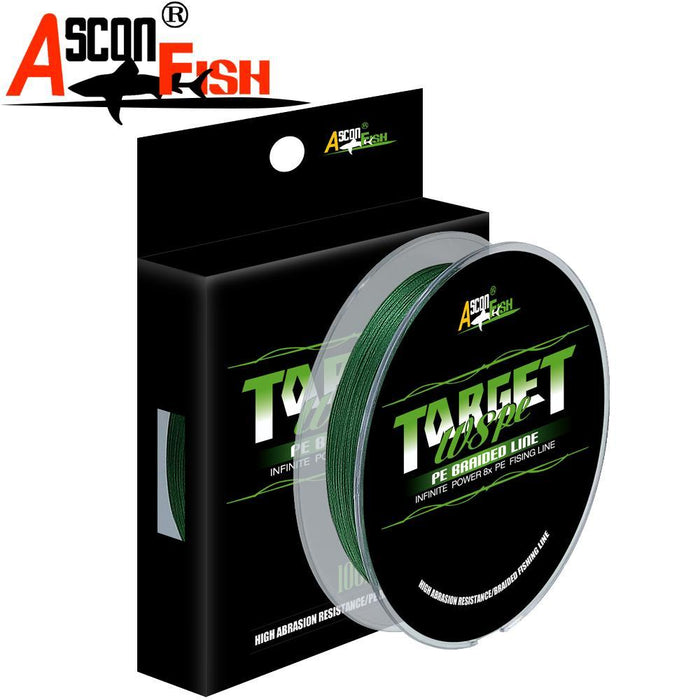 Ascon Fish Braid 8 Strands Multifilament Fishing Line 8 Wire 100M Braided Line-AsconFish Pro Fishing Store-White-0.10MM-6LB-No. 0.4-Bargain Bait Box