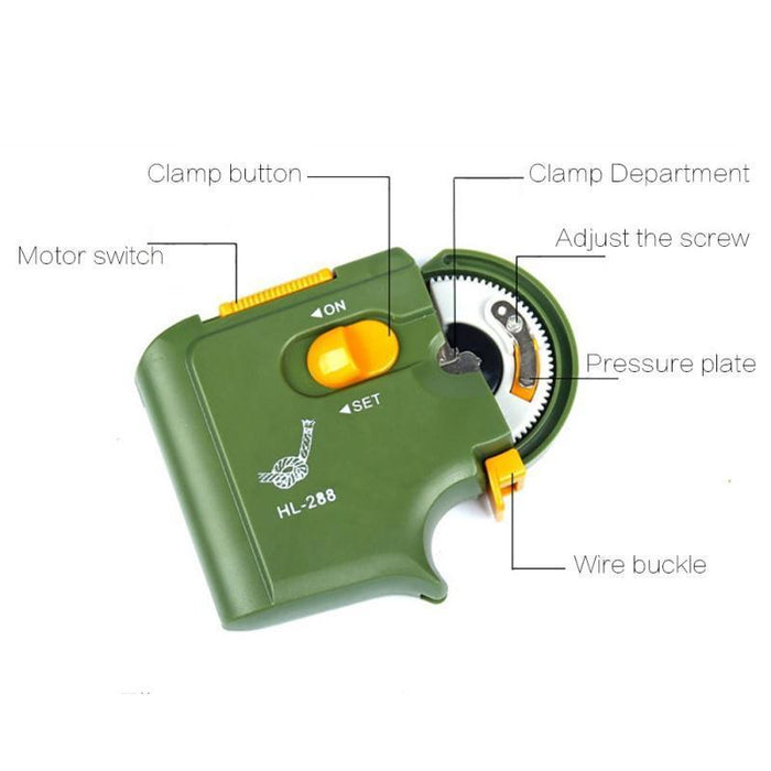 Automatic Portable Electric Fishing Hook Tier Machine Fishing Accessories Tie-One Loves One Store-Black-Bargain Bait Box