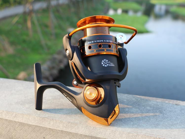 Ax1000-9000 12+1Bb Boat Raft Telescopic Carp Saltwater Distant Wheel Spinning-Spinning Reels-Rosemary shop-1000 Series-Bargain Bait Box