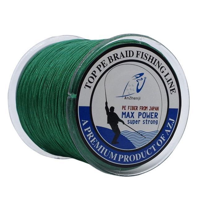 Azj Brand 8 Stands 300M Braided Fishing Line 100% Pe Wires Multifilament Fish-Thanksgiving Family-AZJ8P300Green-1.0-Bargain Bait Box