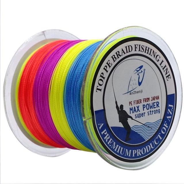 Azj Brand 8 Stands 300M Braided Fishing Line 100% Pe Wires Multifilament Fish-Thanksgiving Family-AZJ8P300Mulicolor-1.0-Bargain Bait Box