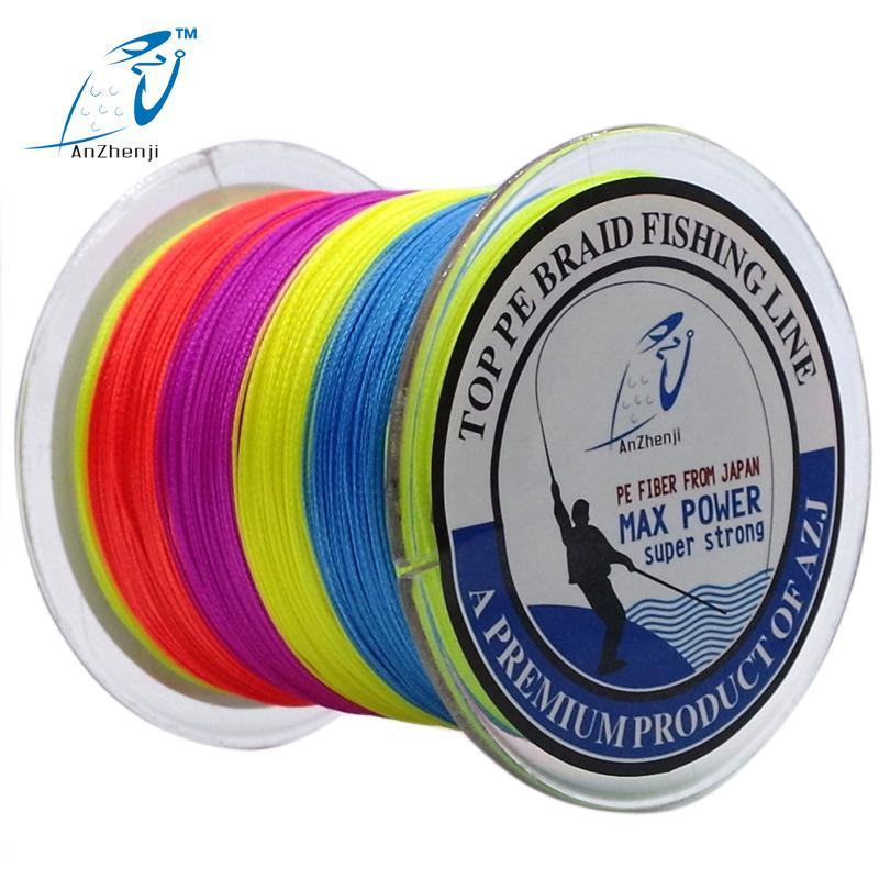Azj Brand 8 Stands 300M Braided Fishing Line 100% Pe Wires Multifilament Fish-Thanksgiving Family-AZJ8P300Yellow-1.0-Bargain Bait Box