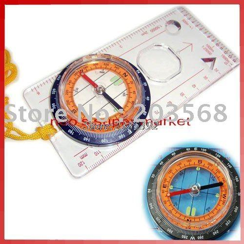 B39Baseplate Ruler Map Scale Compass Scouts Camping Hiking-Huanle GO 2016 Store-Bargain Bait Box