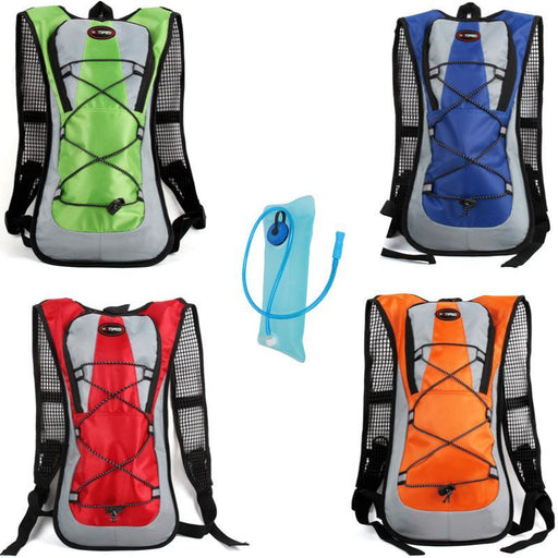 Backpack Water Bag 2L Bladder Hydration Outdoor Camelback Water Bags Bicycle-outdoor-discount Store-red and bladder-Bargain Bait Box