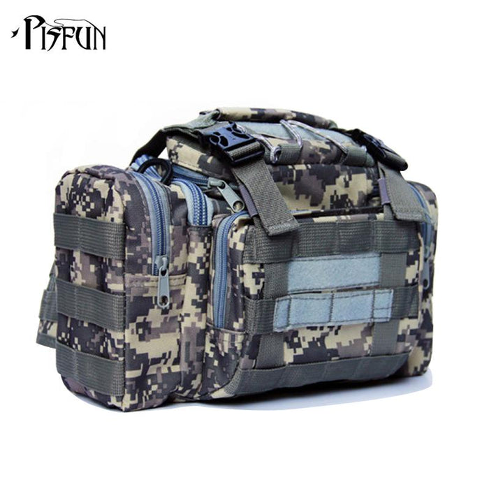 Bag 900D Oxford Fishing Tackle Bag Camo Waist Pack Messenger Bag Fishing Tackle-Tackle Bags-Bargain Bait Box-ACU Digital-Bargain Bait Box