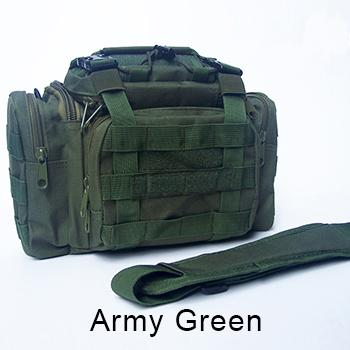 Bag 900D Oxford Fishing Tackle Bag Camo Waist Pack Messenger Bag Fishing Tackle-Tackle Bags-Bargain Bait Box-Army Green-Bargain Bait Box