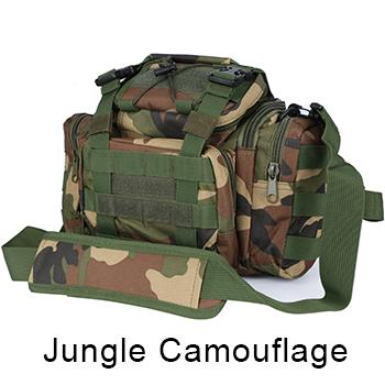 Bag 900D Oxford Fishing Tackle Bag Camo Waist Pack Messenger Bag Fishing Tackle-Tackle Bags-Bargain Bait Box-Jungle Camouflage-Bargain Bait Box