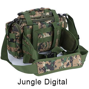Bag 900D Oxford Fishing Tackle Bag Camo Waist Pack Messenger Bag Fishing Tackle-Tackle Bags-Bargain Bait Box-Jungle Digital-Bargain Bait Box