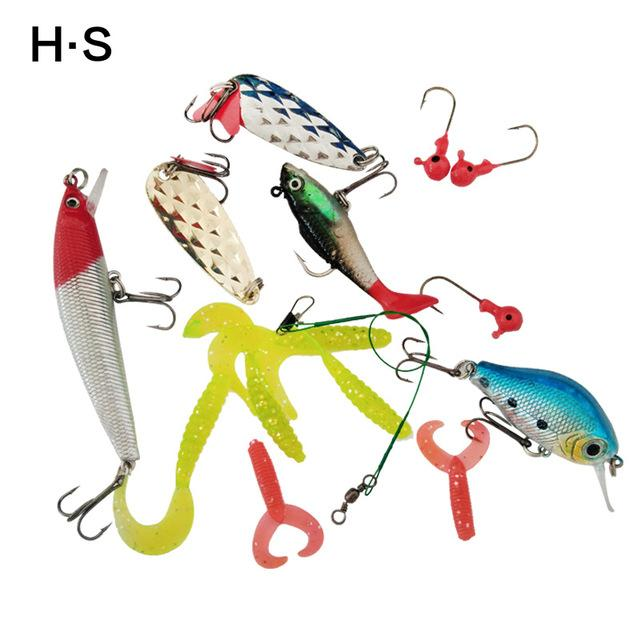 Bait Kit 15Pcs Minnow/Popper Spinner Spoon Lure With Hook Fish Lure Set-Mixed Combos & Kits-Bargain Bait Box-Bargain Bait Box
