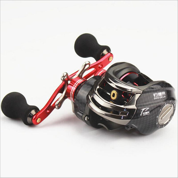 Baitcasting Reel 12+1 High Magnetic Control Wasser Drop Rad Rechts/Links Hand-Baitcasting Reels-DAWO Trading Co., Ltd. Store-Left hand-Bargain Bait Box