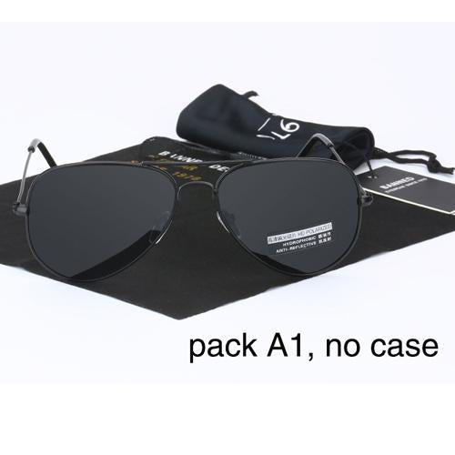 Banned 1976 Classic Hd Polarized Metal Frame Aviation Sunglasses Classic-Polarized Sunglasses-Bargain Bait Box-black no case-Bargain Bait Box