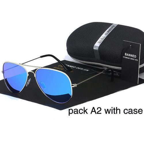 Banned 1976 Classic Hd Polarized Metal Frame Aviation Sunglasses Classic-Polarized Sunglasses-Bargain Bait Box-dark blue-Bargain Bait Box