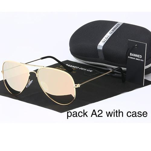 Banned 1976 Classic Hd Polarized Metal Frame Aviation Sunglasses Classic-Polarized Sunglasses-Bargain Bait Box-gold little pink-Bargain Bait Box