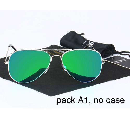 Banned 1976 Classic Hd Polarized Metal Frame Aviation Sunglasses Classic-Polarized Sunglasses-Bargain Bait Box-green no case-Bargain Bait Box