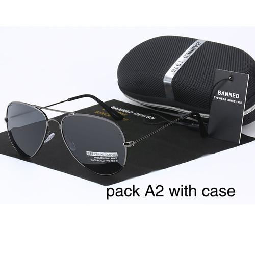 Banned 1976 Classic Hd Polarized Metal Frame Aviation Sunglasses Classic-Polarized Sunglasses-Bargain Bait Box-gun-Bargain Bait Box