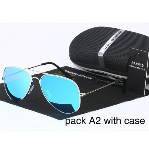 Banned 1976 Classic Hd Polarized Metal Frame Aviation Sunglasses Classic-Polarized Sunglasses-Bargain Bait Box-ice blue-Bargain Bait Box