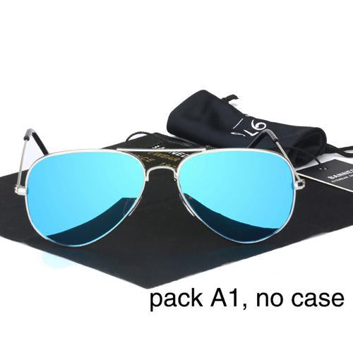 Banned 1976 Classic Hd Polarized Metal Frame Aviation Sunglasses Classic-Polarized Sunglasses-Bargain Bait Box-ice blue no case-Bargain Bait Box