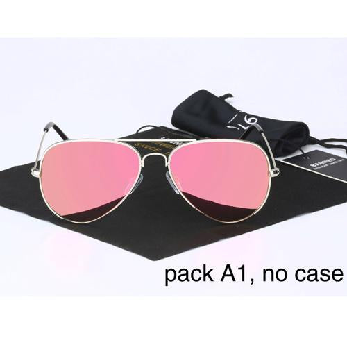 Banned 1976 Classic Hd Polarized Metal Frame Aviation Sunglasses Classic-Polarized Sunglasses-Bargain Bait Box-peach no case-Bargain Bait Box