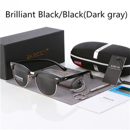 Barcur Sun Glasses Female Oculos Polarized Bc3016 Polarized Sunglasses Gafas-Polarized Sunglasses-Bargain Bait Box-Gloss black Black-Bargain Bait Box