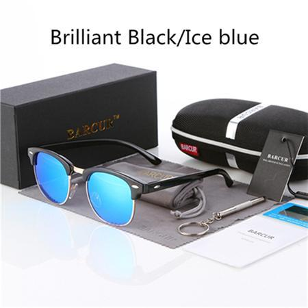 Barcur Sun Glasses Female Oculos Polarized Bc3016 Polarized Sunglasses Gafas-Polarized Sunglasses-Bargain Bait Box-Gloss Black Blue-Bargain Bait Box