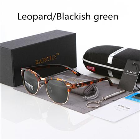 Barcur Sun Glasses Female Oculos Polarized Bc3016 Polarized Sunglasses Gafas-Polarized Sunglasses-Bargain Bait Box-Leopard Green-Bargain Bait Box