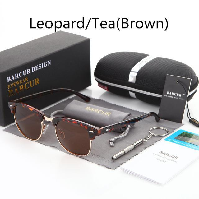 Barcur Sun Glasses Female Oculos Polarized Bc3016 Polarized Sunglasses Gafas-Polarized Sunglasses-Bargain Bait Box-Leopard Tea-Bargain Bait Box