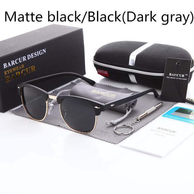 Barcur Sun Glasses Female Oculos Polarized Bc3016 Polarized Sunglasses Gafas-Polarized Sunglasses-Bargain Bait Box-Matte Black Black-Bargain Bait Box
