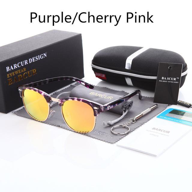 Barcur Sun Glasses Female Oculos Polarized Bc3016 Polarized Sunglasses Gafas-Polarized Sunglasses-Bargain Bait Box-Purple Peach-Bargain Bait Box