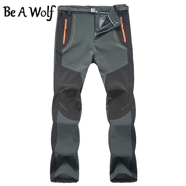 Be A Wolf Outdoor Warm Hiking Pants Men Sport Suit Winter Fishing Climbing-Be A Wolf Official Store-MEN-Gray-S-Bargain Bait Box