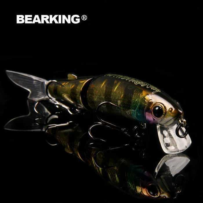 Bearking Brand 1Pcs Minnow Fishing Lure Laser Hard Artificial Bait 3D Eyes-bearking fishingtackle Store-A-Bargain Bait Box