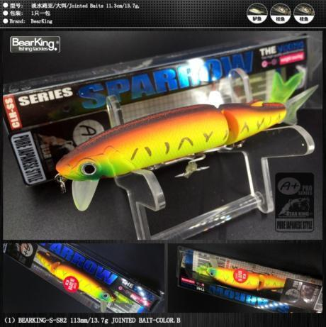 Bearking Brand 1Pcs Minnow Fishing Lure Laser Hard Artificial Bait 3D Eyes-bearking fishingtackle Store-B-Bargain Bait Box
