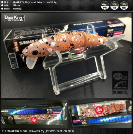 Bearking Brand 1Pcs Minnow Fishing Lure Laser Hard Artificial Bait 3D Eyes-bearking fishingtackle Store-G-Bargain Bait Box