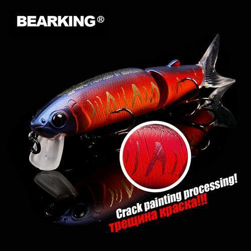 Bearking Brand 1Pcs Minnow Fishing Lure Laser Hard Artificial Bait 3D Eyes-bearking fishingtackle Store-K-Bargain Bait Box