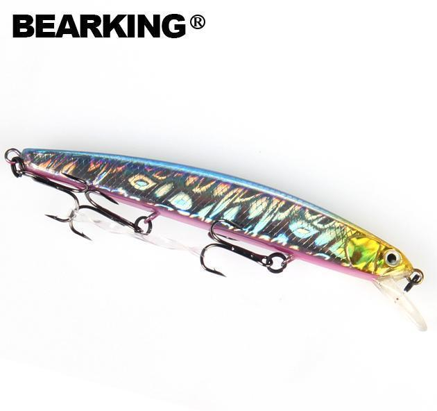 Bearking Fishing Lures, Assorted Colors, Minnow Crank 10Cm 8.5G,Tungsten-bearking Official Store-D-Bargain Bait Box