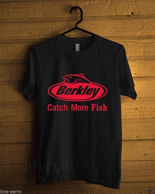 Berkley Logo Pro Fishinger Men'S Black T-Shirt Size S-3Xl Top Harajuku Short-Shirts-Bargain Bait Box-black-S-Bargain Bait Box