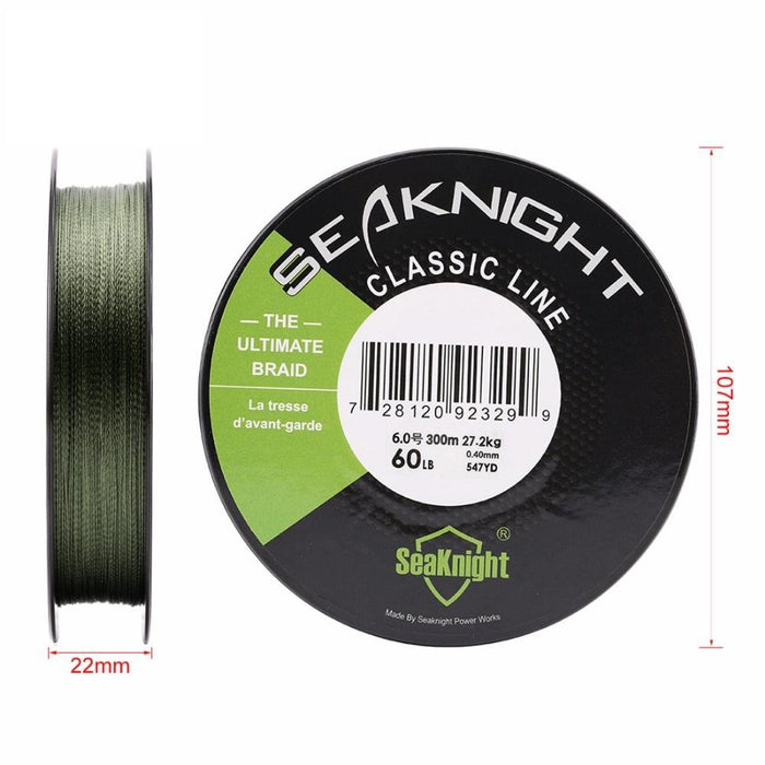 Best Classic 300M 4 Strands Braided Fishing Line Super Strong Braid Pe-Sequoia Outdoor Co., Ltd-red-0.3-Bargain Bait Box