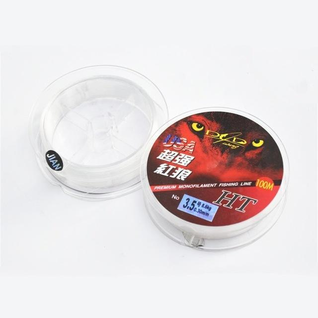 Best Quality 100M Monofilament Nylon Fishing Line Red Brand 30 Fishing-Sequoia Outdoor (China) Co., Ltd-White-0.4-Bargain Bait Box