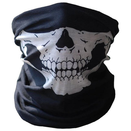 Bicycle Ski Skull Half Face Mask Ghost Scarf Multi Use Neck Warmer Cod Outdoor-JIUSUYI Official Store-Bargain Bait Box