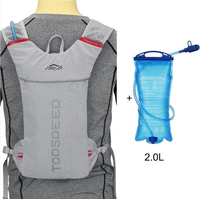 Bicycle Vest Backpack Running Riding Cycling Rucksack With 1.5L Water Bag-Vanchic Outdoor Store-Grey and 2L-Bargain Bait Box