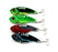 Big 8Pcs Vib Metal Lure Hard Bass Walleye Crappie Baits With 8#Hooks 4 Colors-Blade Baits-Bargain Bait Box-Bargain Bait Box