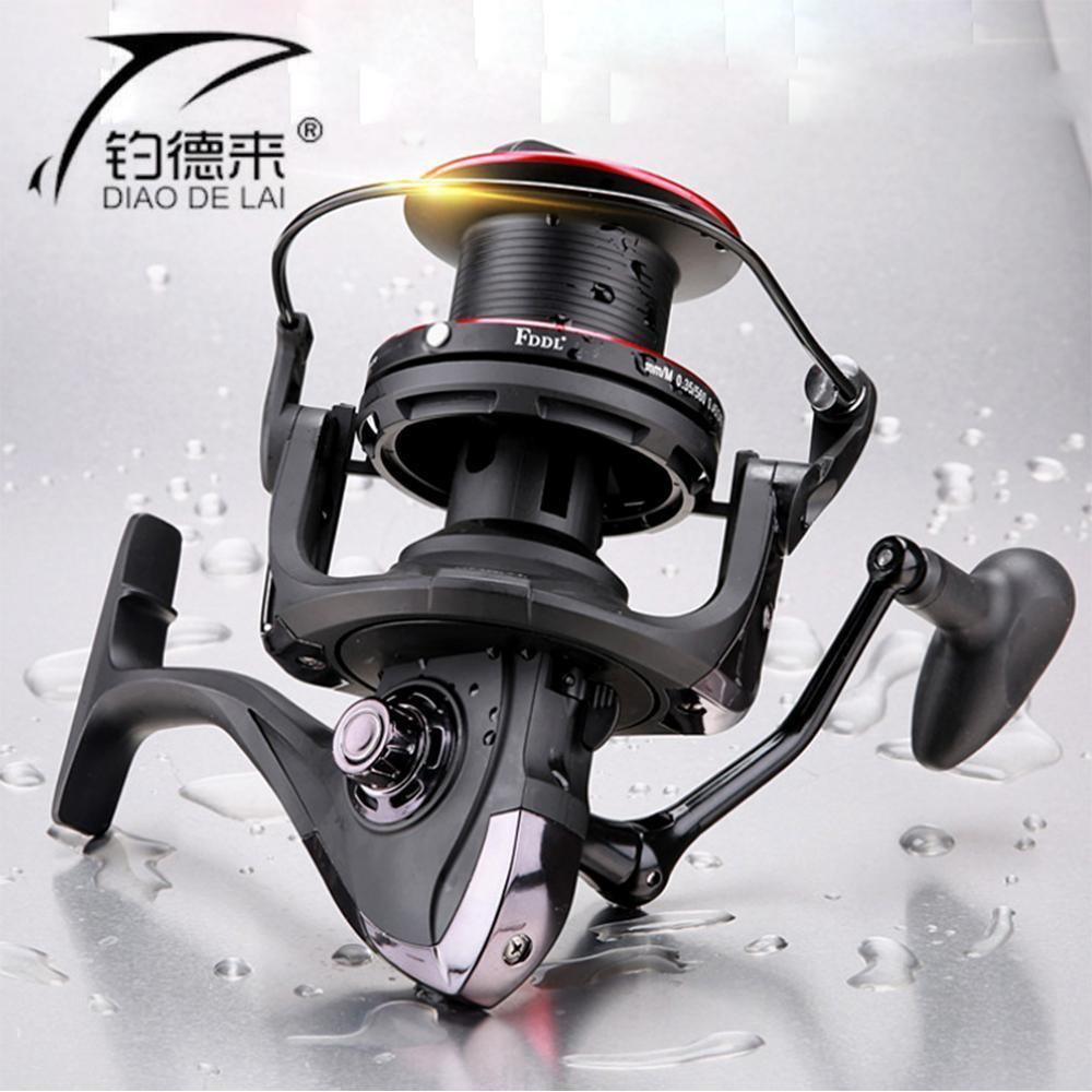 Big Spool 10000 Series Long Casting Spinning Fishing Reel 4.1:1 Fly Fishing-Spinning Reels-HUDA Sky Outdoor Equipment Store-Bargain Bait Box