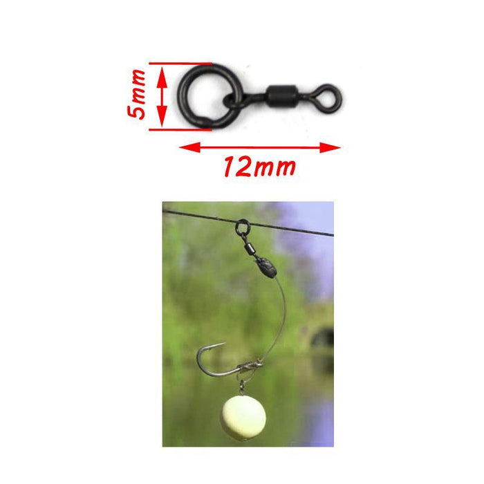 Bimoo 10Pcs/Pack Carp Fishing Tackle Micro Hook Ring Swivel Chod Rig Multi Rig-Bimoo Fishing Tackle Store-Bargain Bait Box