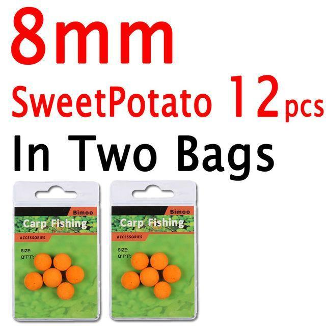 Bimoo 12Pcs 8Mm 10Mm 12Mm 14Mm Colored Pop Up Carp Fishing Boilies Flavoured-Bimoo Fishing Tackle Store-8mm Sweetpotato 12PC-Bargain Bait Box