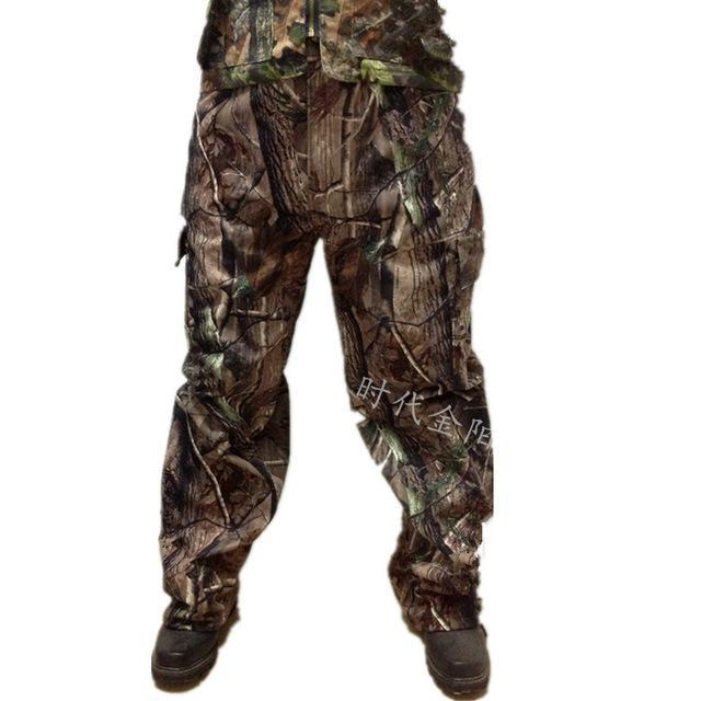 Bionic Realtree Camo Hunting Pants Loose Multi Pockets Fishing Camping Pants-Pants-Bargain Bait Box-Gray-L-Bargain Bait Box