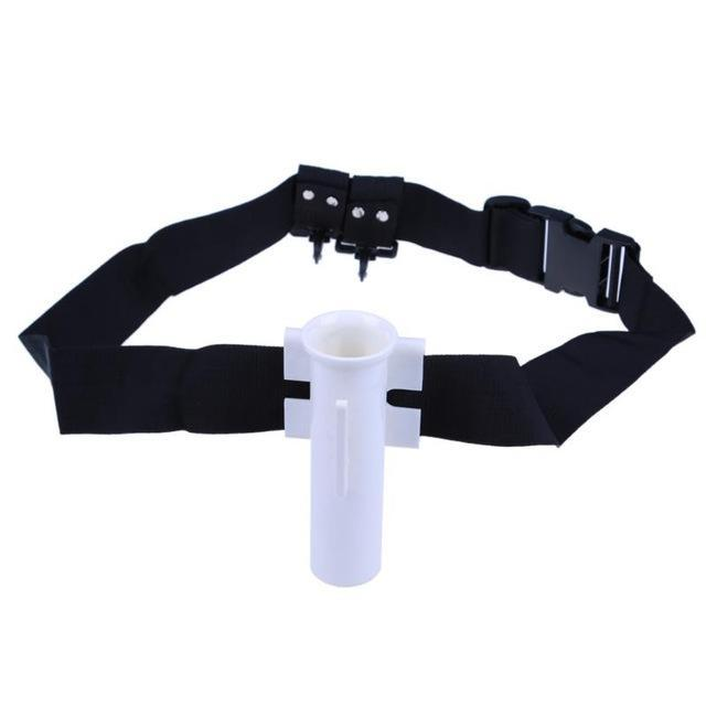 Black Adjustable Belt Waist Fishing Rod Holder Fighting Belt Fishing R Bargain Bait Box